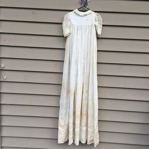 """Vintage long christening gown 45"""""""